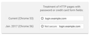 Chrome security warnings