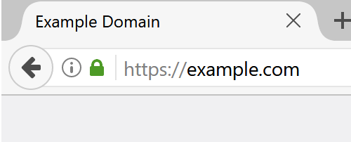HTTPS secure connection in browser
