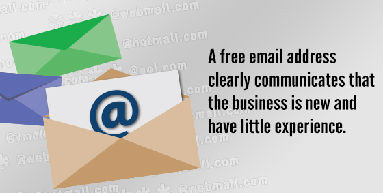 Don't use a free email address for your business