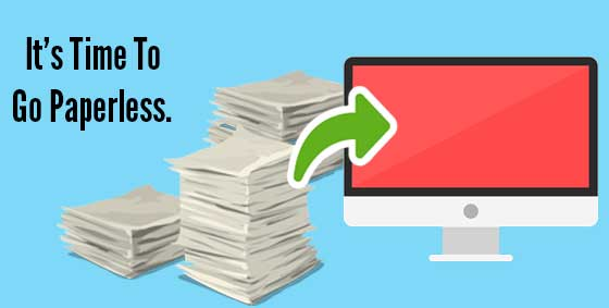 Move to a paperless office